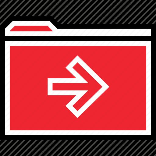 archive, forward, go icon