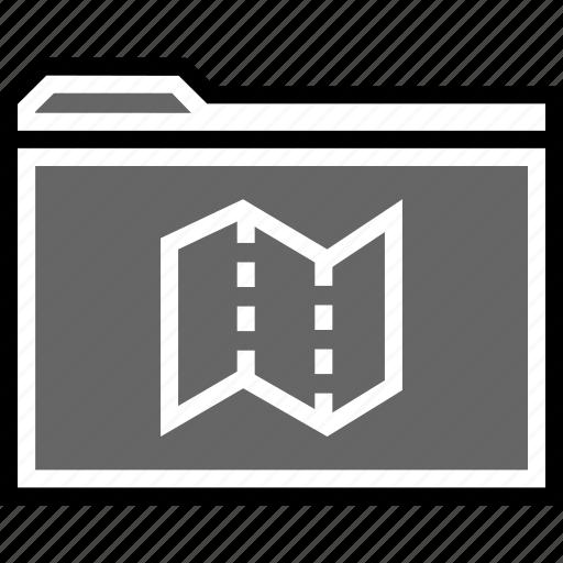 archive, locate, map icon