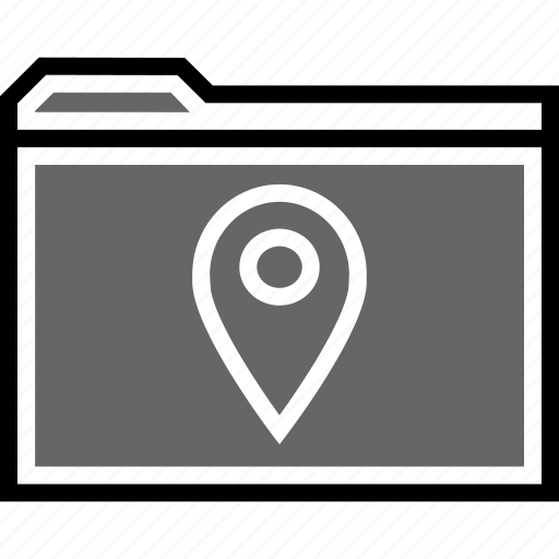 archive, gps, pn icon