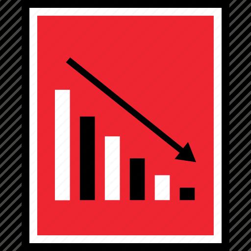 bars, data, down icon