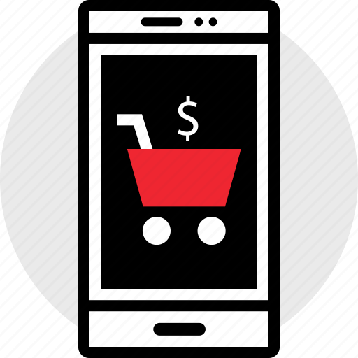 cart, cell, phone, seo icon