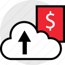cloud, dollar, up icon