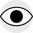 eye, look, search icon