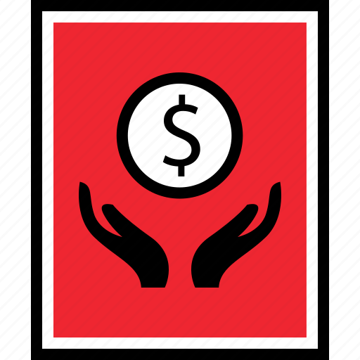 dollar, hands, seo icon