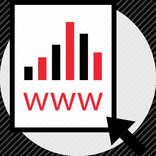 arrow, click, www icon