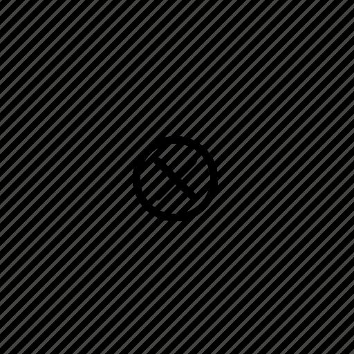 cancel, close, cross, delete, remove, stop, trash icon