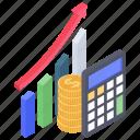 data analytics, financial chart, growth chart, infographic, statistics icon