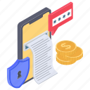 ecommerce, mobile payment, online payment, safe payment, secure payment icon