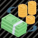 bitcoin exchange, currency exchange, foreign exchange, money conversion, money exchange icon