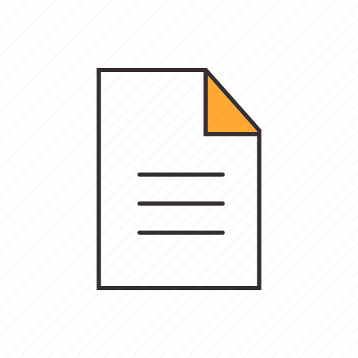 data, document, file, information, paper sheet, report, text icon