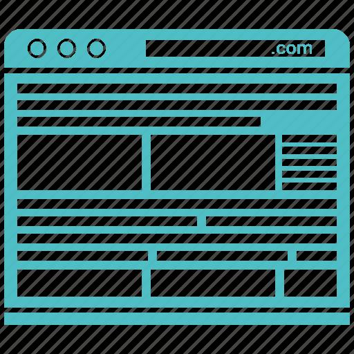 blog, browser, internet, online, website, wordpress icon