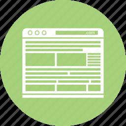 blog, browser, internet, online, website, word icon