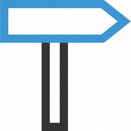 business, road, sign icon