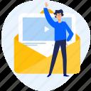 email, marketing, media, newsletter, social, streaming, video