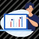 analysis, analytics, chart, graph, presentation, report, statistics icon