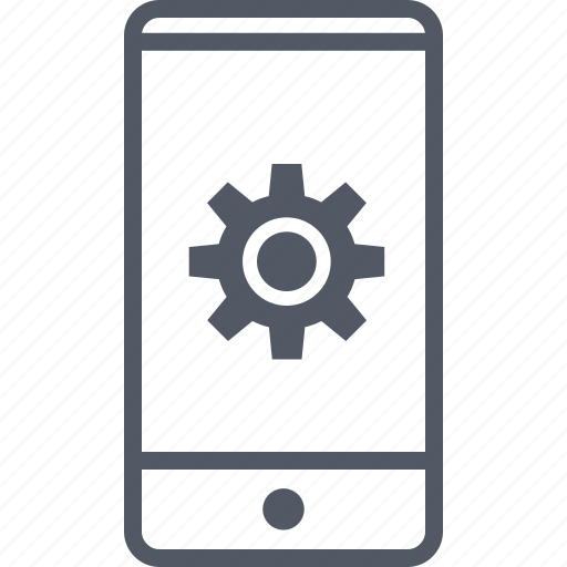 cell, connect, gear, options, phone, setup icon