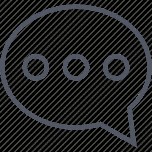 bubble, chat, conversation, message, speak, talk icon