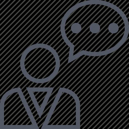 bubble, chat, conversation, man, profile, talk, user icon