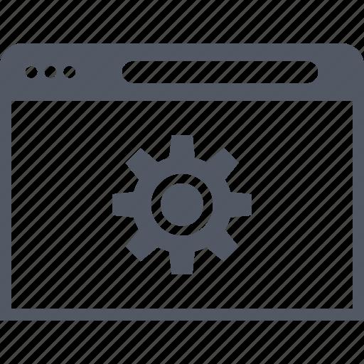 browser, gear, internet, online, options, setup icon