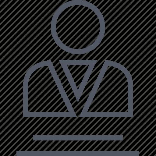 conversation, description, internet, man, online, profile icon