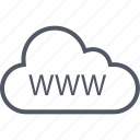 cloud, data, internet, online, save, web, www icon
