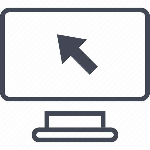 arrow, click, computer, mouse, online, track, web icon