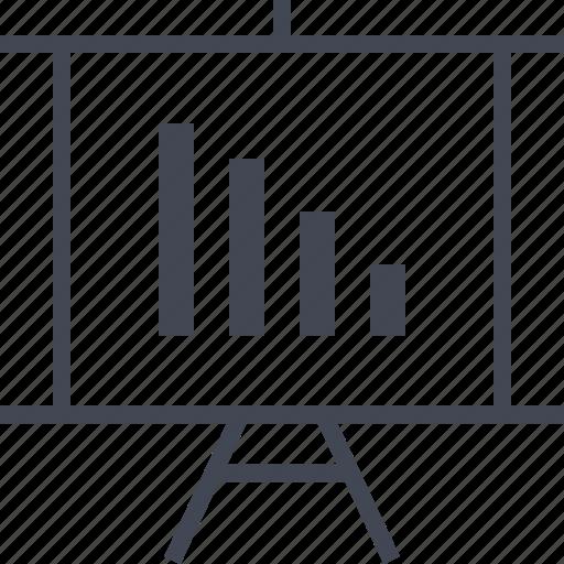 bars, chart, data, graph, presentation, teach icon