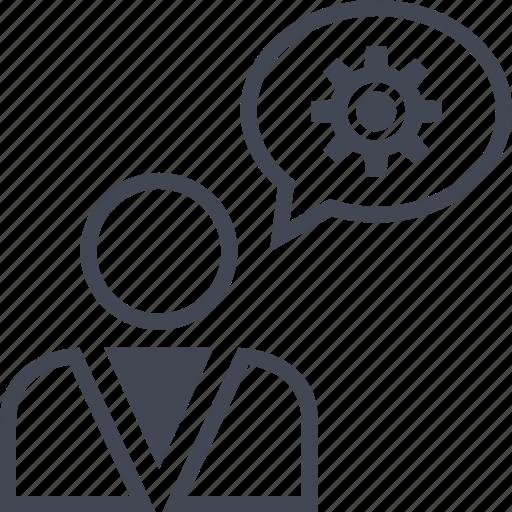 boss, chat, data, options, profile, talk icon