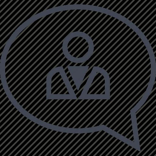 bubble, chat, conversation, profile, talk, user icon