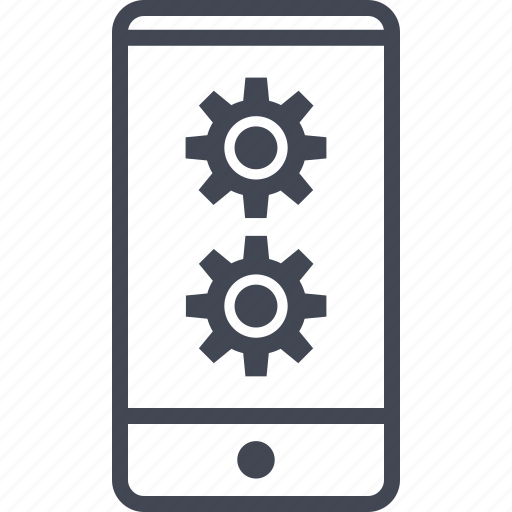 call, cell, data, gear, options, phone icon