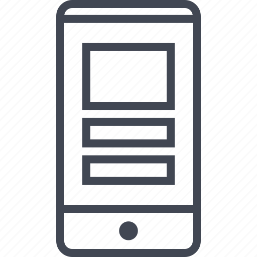 cell, mobile, mockup, phone, website icon