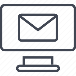 computer, email, mac, message, monitor, pc icon