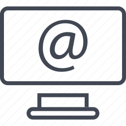 at, computer, email, mail, message, screen, send icon