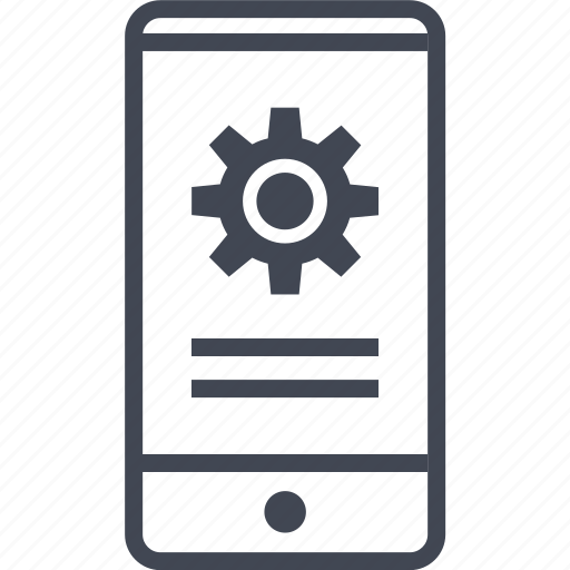 call, cell, data, electronic, gear, mobile, phone icon