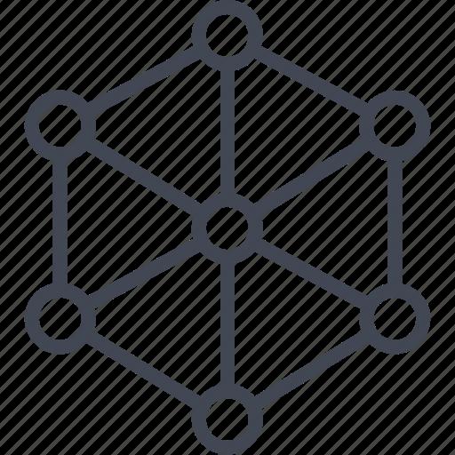 analytics, analyze, cube, internet, online, server icon