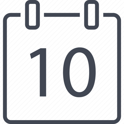 appointment, data, month, number, schedule, ten icon