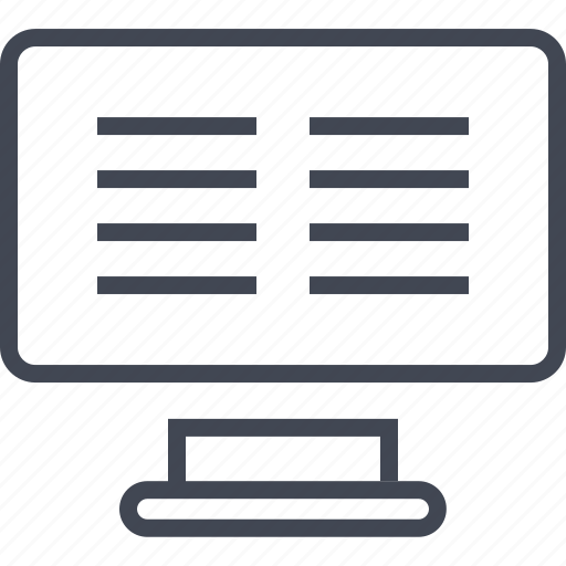 article, computer, news, online, paragraph, screen icon