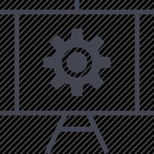 board, gear, options, presentation, setup icon