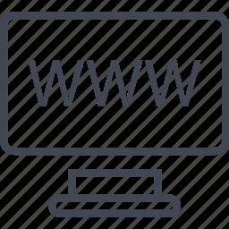 computer, mac, online, screen, web, website, www icon