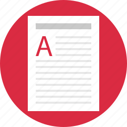 a, contract, document, homework, letter, report icon