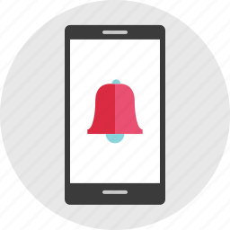 bell, cell, mobile, online, phone, schedule icon
