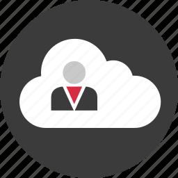 circle, cloud, data, guardar, online, save, user icon