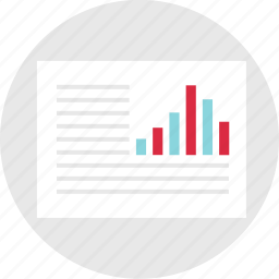 analyze, document, graph, layout, page, report icon