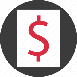currency, dollar, funds, money, sign, wealth icon