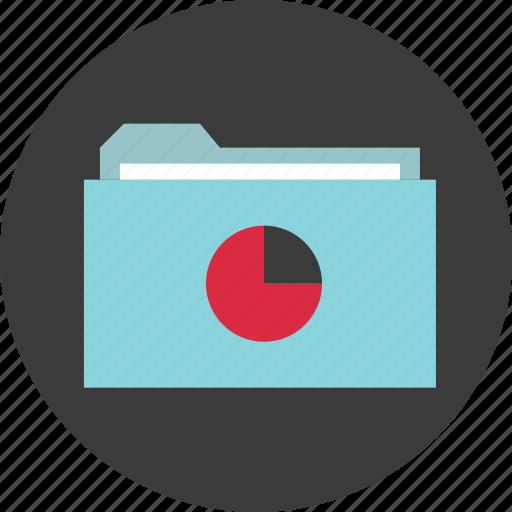 archive, chart, circle, data, folder, pie icon
