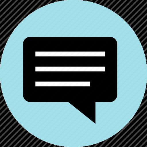 bubble, chat, conversation, lines icon