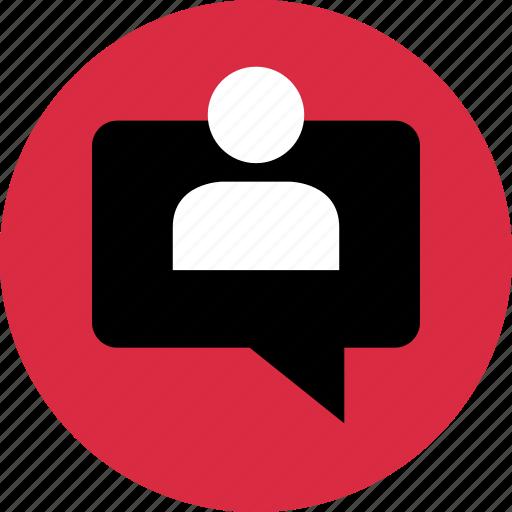 conversation, friend, pop, up icon