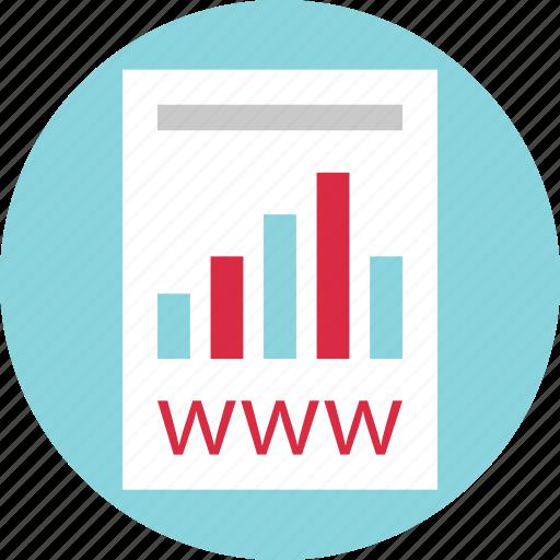 document, online, report, web, webpage, website, www icon