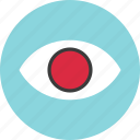 circle, eye, find, look, search, watch icon