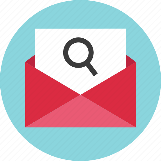 email, envelope, find, look, mail, search icon
